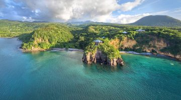 Secret Bay Dominica Aerial View